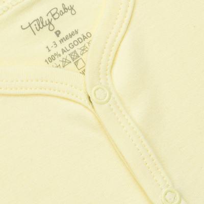 Imagem 2 do produto Casaco para bebe em suedine Amarelo - Tilly Baby - TB13115.07 CASACO SUEDINE AMARELO-GG