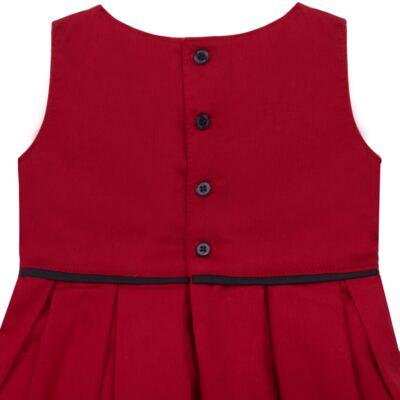 Imagem 3 do produto Vestido c/ Calcinha para bebe em fustão Scarlet - Mini Sailor - 14474263 VESTIDO C/ VIVO FUSTAO VERM ESC-3-6