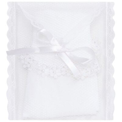 Imagem 3 do produto Meia para bebê branca bordada Flores - Roana - 406-A Meia branca bordada Flores-P