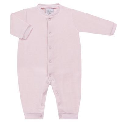Imagem 1 do produto Macacão longo para bebe em plush Rosa - Tilly Baby - TB13172.10 MACACAO BASICO DE PLUSH ROSA-M