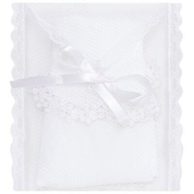 Imagem 3 do produto Meia para bebê branca bordada Flores - Roana - 406-A Meia branca bordada Flores-PR