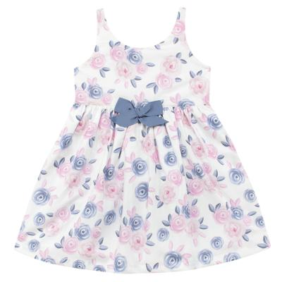 Imagem 1 do produto Vestido curto para bebe em tricoline Flourish - Mini Sailor - 14724440 VESTIDO C/LACO TRICOLINE FLORAL ROSA-1