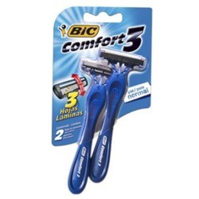 Imagem 1 do produto Aparelho de Barbear Bic Comfort 3 Pele Normal 2 Unidades