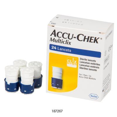 Imagem 3 do produto Lanceta Accu-Chek Multiclix Roche c/ 24 Unidades 4 Tambores c/ 6 Lancetas