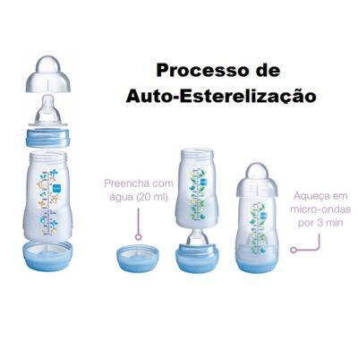 Imagem 3 do produto Mamadeira MAM First Bottle Boys 260mL - 4663