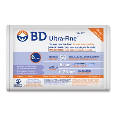 Imagem 1 do produto Seringa Insulina BD U-F 6x25 10 Unidades