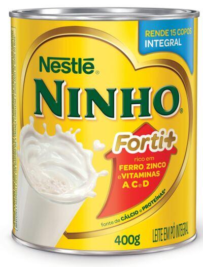 Imagem 1 do produto Leite em Pó Ninho Forti+ Integral Lata 400g