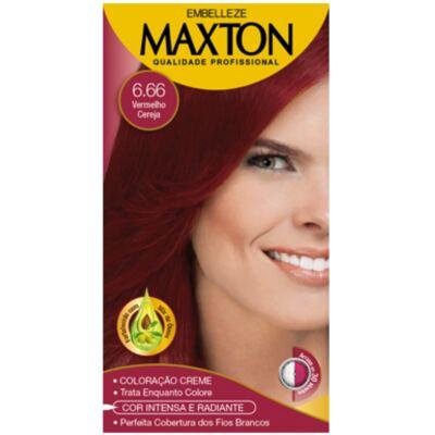 Imagem 1 do produto Kit Maxton Tintura Prático 6.66 Vermelho Cereja