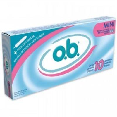 Imagem 1 do produto Absorvente interno O.B. mini 10 unidades