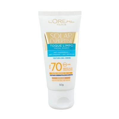Imagem 7 do produto Protetor Solar L'Oréal Paris Solar Expertise Facial Toque Limpo com Cor FPS 70 - 50ml