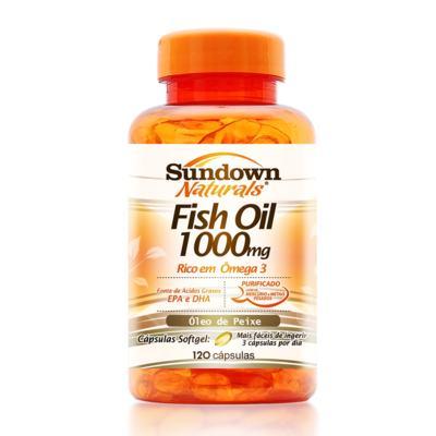 Imagem 1 do produto Óleo de Peixe Sundown Naturals Fish Oil 1000mg 120 Cápsulas