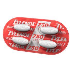 Tylenol - 750mg | 4 comprimidos