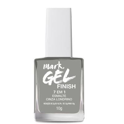 Imagem 1 do produto Esmalte 7 Em 1 Mark. Gel Finish - 10g - Esmalte 7 em 1 Mark. Gel Finish 10g - Cinza Londrino