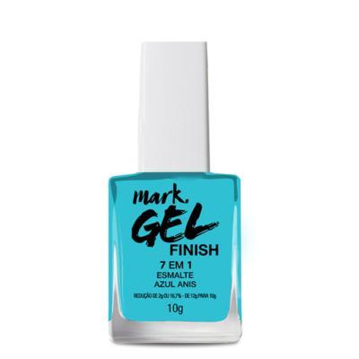 Imagem 2 do produto Esmalte 7 Em 1 Mark. Gel Finish - 10g - Esmalte 7 em 1 Mark. Gel Finish 10g - Azul Anis