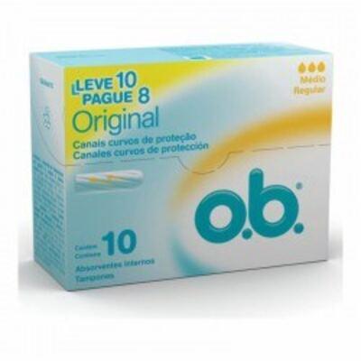 Imagem 1 do produto Absorvente Interno O.B. Médio 10 Unidades