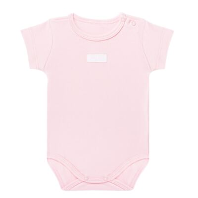 Imagem 1 do produto Body curto para bebe em suedine Rosa - Vicky Lipe - BC235 BODY MC SUEDINE ROSA BB-2