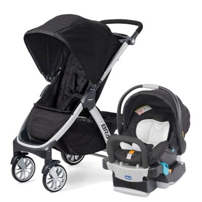 Imagem 1 do produto Bravo Travel System: Carrinho de bebê Bravo Ombra + Poltrona Keyfit Night (0m+) - Chicco