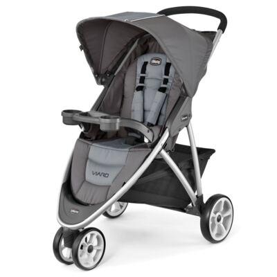 Imagem 2 do produto Viaro Travel System: Carrinho de bebê Viaro Graphite + Poltrona Keyfit Red (0m+) - Chicco