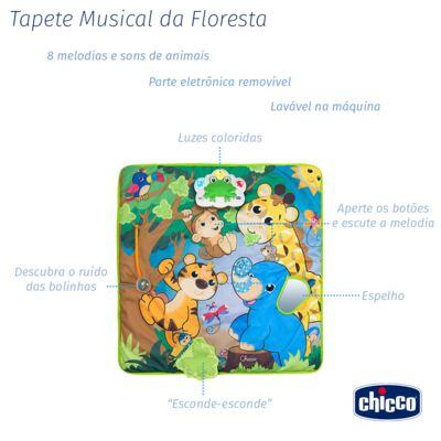 Imagem 2 do produto Tapete musical Move 'n' Grow Amigos da Floresta (0m+) - Chicco