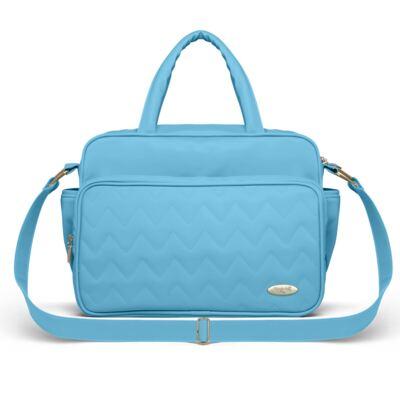 Imagem 3 do produto Mala Maternidade para bebe + Bolsa Turin + Frasqueira Térmica Trento + Trocador Portátil Chevron Turmalina - Classic for Baby Bags