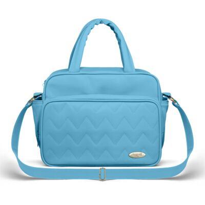 Imagem 4 do produto Mala Maternidade para bebe + Bolsa Turin + Frasqueira Térmica Trento + Trocador Portátil Chevron Turmalina - Classic for Baby Bags