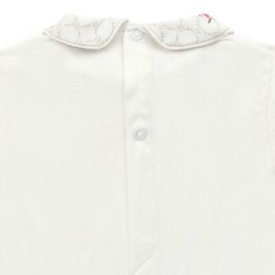 Imagem 3 do produto Body longo c/ Calça (Mijão) em algodão egípcio Flores - Roana - 02532019031 Conjunto Body longo com Calça Marfim-G