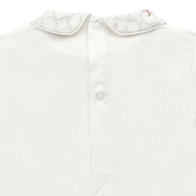 Imagem 3 do produto Body longo c/ Calça (Mijão) em algodão egípcio Flores - Roana - 02532019031 Conjunto Body longo com Calça Marfim-M
