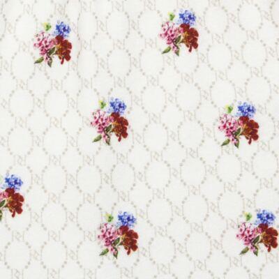 Imagem 5 do produto Body longo c/ Calça (Mijão) em algodão egípcio Flores - Roana - 02532019031 Conjunto Body longo com Calça Marfim-M