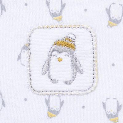 Imagem 3 do produto Body longo c/ Calça  para bebe em algodão egípcio Penguin - Piu-Piu - PIU993013.145 BODY C/ CALÇA MASC PINGUIM-M
