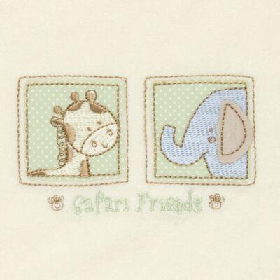 Imagem 2 do produto Babador para bebe atoalhado Safari Friends - Classic for Baby