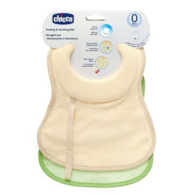 Imagem 1 do produto Kit 2 Babadores para bebe com espuma extra absorvente (0m+) - Chicco