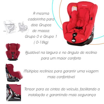 Imagem 7 do produto Cadeira Iseos Neo Plus Robin Red (0m+) - Bébé Confort