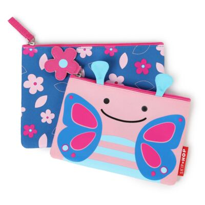Imagem 4 do produto Mochila para bebe + Lancheira + Estojo + Garrafinha Zoo Borboleta - Skip Hop