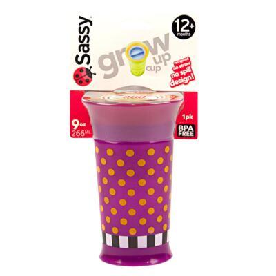 Imagem 1 do produto Copo Grow Up Médio Antivazamento Rosa (12m+) - Sassy