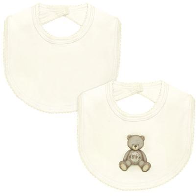 Imagem 1 do produto Pack: 2 babadores em Pima Cotton Supreme Prime Bear Marfim - Mini & Kids