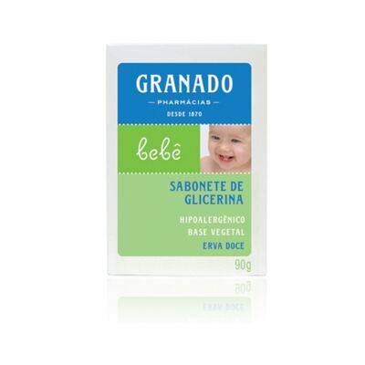 Imagem 2 do produto Kit com 1 sabonete + 1 Loção Hidratante + 1 Óleo Suave para bebê Erva-doce - Granado