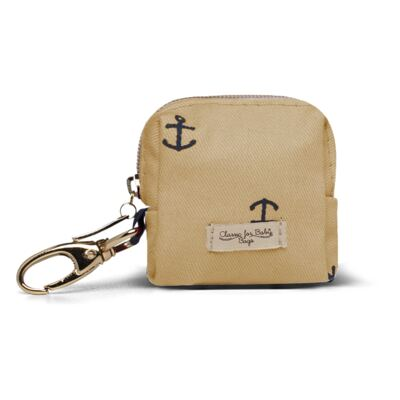 Imagem 1 do produto Porta Chupeta para bebe em sarja Navy Caramelo - Classic for Baby Bags