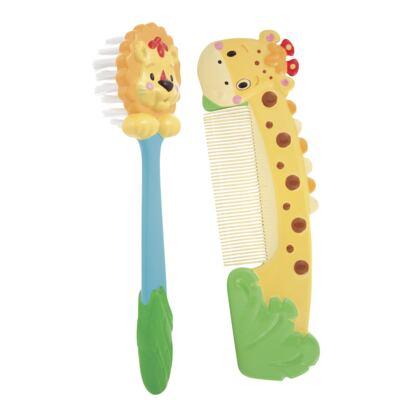 Imagem 1 do produto Kit pente e escova Animais da Floresta - Sassy