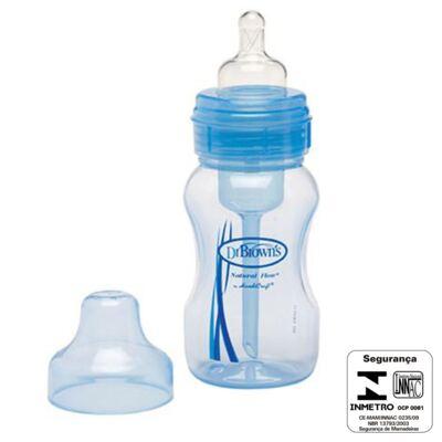 Imagem 3 do produto Mamadeira Boca Larga Azul 240ml (0m+) - Dr Brown's - D814 Mamadeira Boca Larga Azul 240ml (0m+)