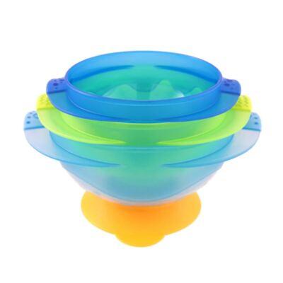 Imagem 1 do produto Conjunto 3 Tigelas Tampa e Ventosa Azul/Verde (9m+) - Sassy