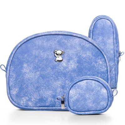 Imagem 2 do produto Kit Acessórios Délavé +  Lenços Umedecidos + Sabonete Líquido + Óleo Suave + Loção Hidratante Bebê Tradicional - Classic For Baby Bags & Granado