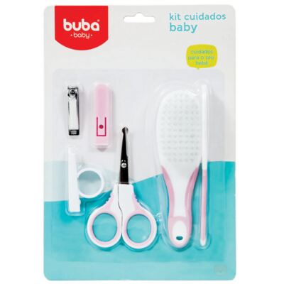 Imagem 1 do produto Kit Cuidados com o Bebê Rosa (0m+) - Buba