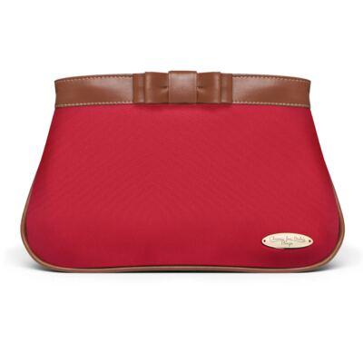Imagem 2 do produto Necessaire Laço Caramel Vermelha + 2 Lenços Umedecidos + Sabonete Líquido Bebê Tradicional - Classic For Baby Bags & Granado