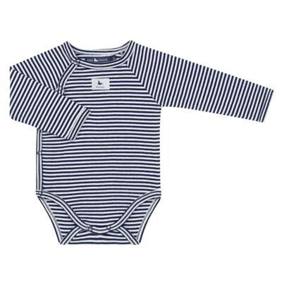 Imagem 2 do produto Body longo c/ Calça (mijão) em suedine StripesMarinho - Mini Sailor - 17234444 BODY S M/L C/MIJAO RIB/SUEDINE MARINHO-3-6