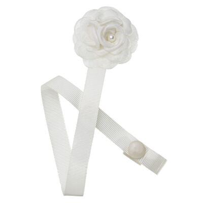 Imagem 1 do produto Prendedor de Chupeta Flor Marfim - Roana