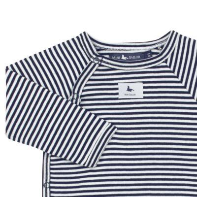 Imagem 3 do produto Body longo c/ Calça (mijão) em suedine StripesMarinho - Mini Sailor - 17234444 BODY S M/L C/MIJAO RIB/SUEDINE MARINHO-6-9