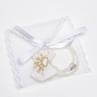 Imagem 3 do produto Prendedor de chupeta Laço Coroa Pérolas Marfim - Roana