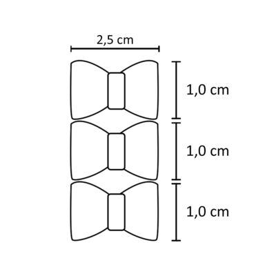 Imagem 2 do produto Kit: 3 Laços duplos c/velcro Poá/Vermelho/Xadrez - Roana