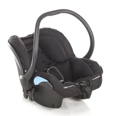 Imagem 4 do produto Travel System: Carrinho de bebê New Loola Modern Black + Moisés Windoo Plus Black Raven +  Bebê Conforto Streety.fix Black Raven (0m+) - Bébé Confort