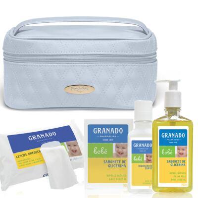 Imagem 1 do produto Necessaire Farmacinha Golden Koala Azul + Kit Granado Bebê - Classic For Baby Bags & Granado